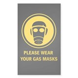 """Gas Mask"" Rectangle Decal"