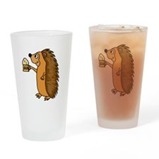 Hedgehog with a Beer Drinking Glass