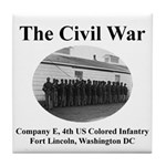Fort Lincoln Civil War Infantry Tile Coaster