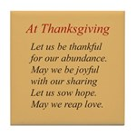 Thanksgiving Poem Tile Coaster