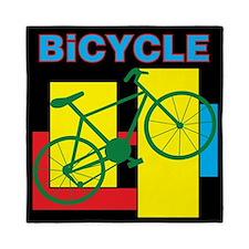 Color Block Bike Queen Duvet