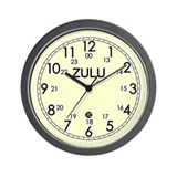 ZULU time yellow clockface Wall Clock