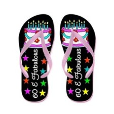 FESTIVE 60TH Flip Flops