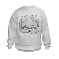 Sleeping Gray Cat Sweatshirt