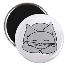 "Sleeping Gray Cat 2.25"" Magnet (10 pack)"