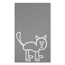 Cat - white Decal