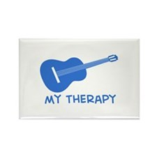 Ukelele my therapy Rectangle Magnet (10 pack)