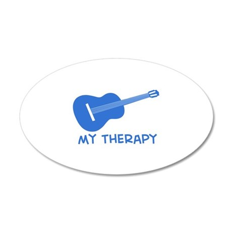 Ukelele my therapy 35x21 Oval Wall Decal