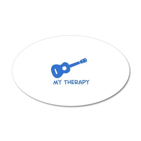 Ukelele my therapy 20x12 Oval Wall Decal