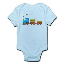 Colorful Toy Train Body Suit