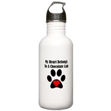 Chocolate Lab Sports Water Bottle