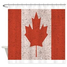 Claystone Canadian Flag Shower Curtain