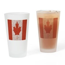 Claystone Canadian Flag Drinking Glass