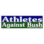 Athletes Against Bush Bumper Sticker
