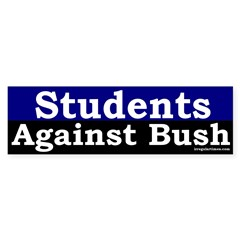 Students Against Bush Bumper Sticker