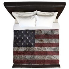 Cave Wall American Flag King Duvet