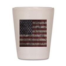Cave Wall American Flag Shot Glass