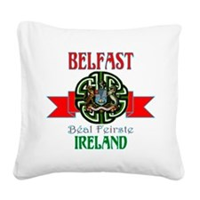 belfast Remake ribbon3.png Square Canvas Pillow