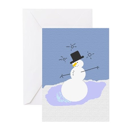 Tipsy the Snowman! Greeting Cards (Pk of 10)