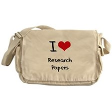 I Love Research Papers Messenger Bag