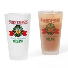 Carrickfergus Coat of Arms NEW.png Drinking Glass
