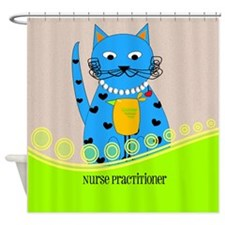 Nurse Practitioner cat Shower Curtain