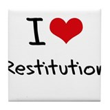 I Love Restitution Tile Coaster