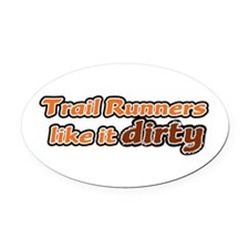 Trail Runners like it Dirty - Orange Dirty Oval Ca