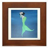 Island Mermaid Framed Tile