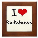 I Love Rickshaws Framed Tile