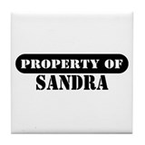 Property of Sandra Tile Coaster
