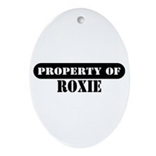 Property of Roxie Oval Ornament