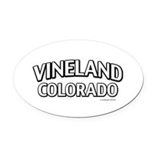 Vineland Colorado Oval Car Magnet
