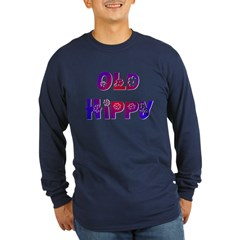 Old Hippy Long Sleeve Dark T-Shirt