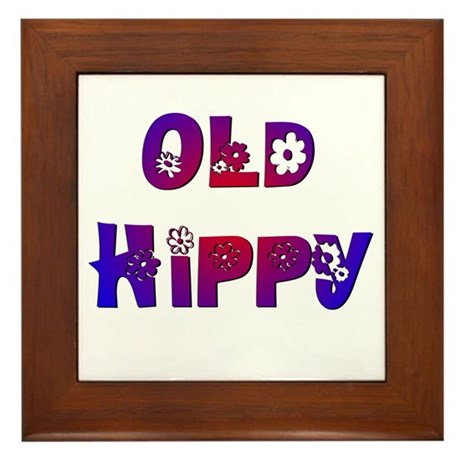 Old Hippy Framed Tile