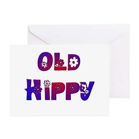 Old Hippy Greeting Cards (Pk of 10)