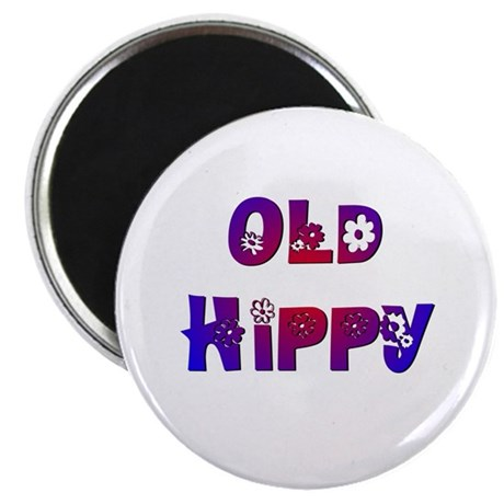 "Old Hippy 2.25"" Magnet (10 pack)"