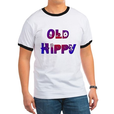 Old Hippy Ringer T