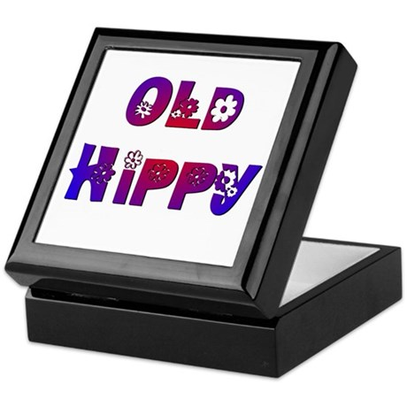 Old Hippy Keepsake Box