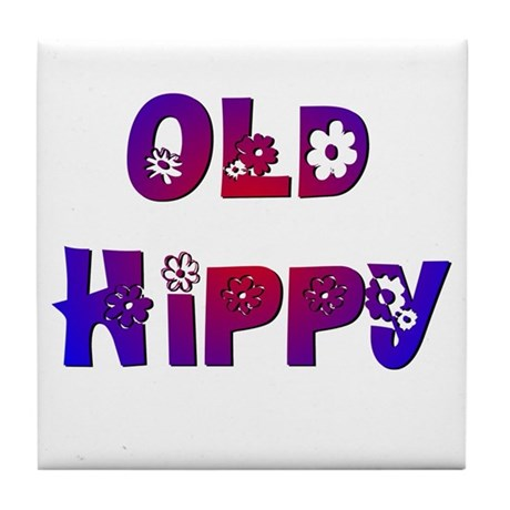 Old Hippy Tile Coaster
