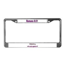 If God Be For Us License Plate Frame