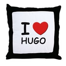 I love Hugo Throw Pillow