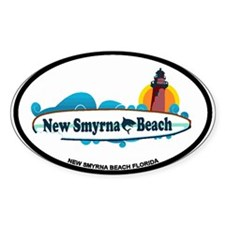 New Smyrna Beach - Surf Design. Decal