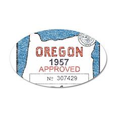 Vintage Oregon Registration Wall Decal