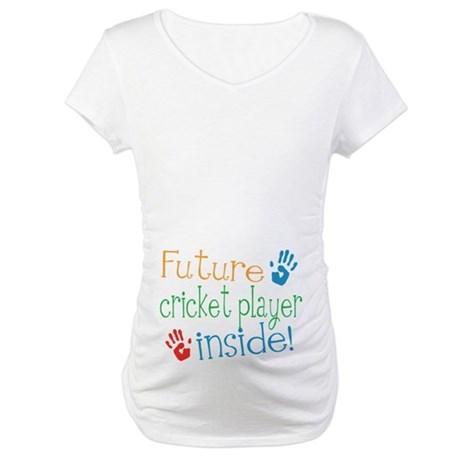 Cricket Player Maternity T-Shirt