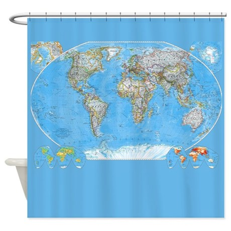 How To Hang Swag Curtains Map of Japan Shower Curtain
