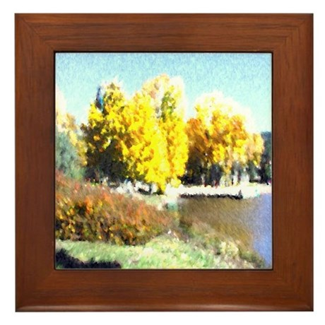 Autumn Lake Framed Tile
