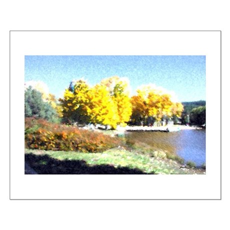 Autumn Lake Small Poster