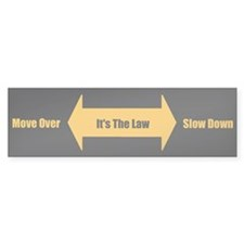 Move Over Safety Bumper Sticker