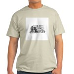 Poker Playing Cats Light T-Shirt